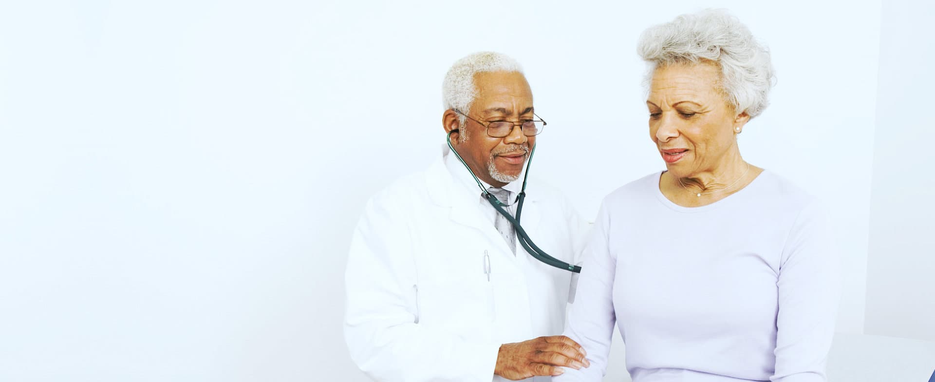 doctor with elder woman
